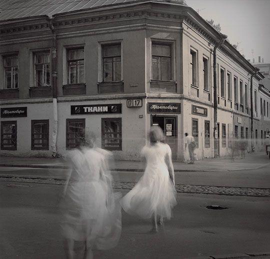 """White Dresses"" from the photo series ""Time Standing Still""   Photographer: Alexey Titarenko, 1998"