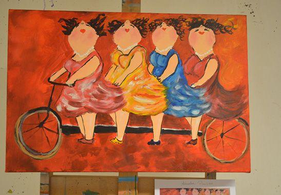 foto workshop Dikke dames schilderen