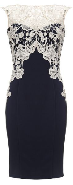 """You can wear this lacy dress from Lipsy for smart casual. """"What is Smart Casual for Women on Cruises?"""" - (article) - http://boomerinas.com/2014/01/31/what-is-smart-casual-for-women-on-cruises/"""