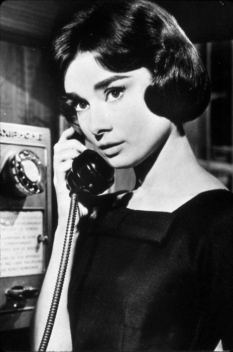 Audrey Hepburn's simple bob.