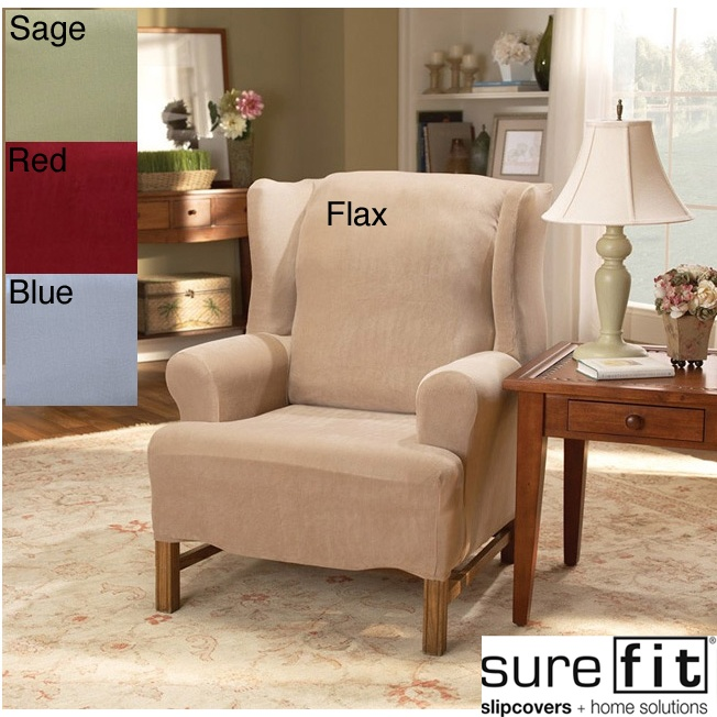 sure fit stretch pearson wingback chair slipcover by sure
