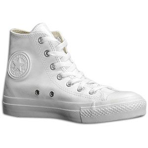 monochromatic leather converse high tops.... can wait to get mine in the mail