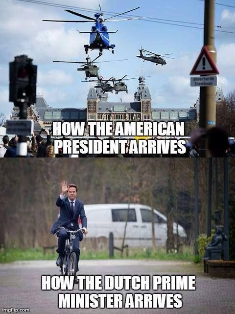 How the Dutch prime minister arrives