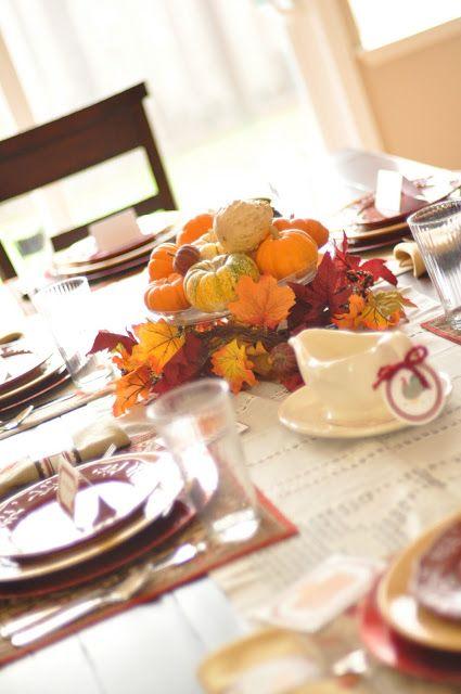 {HOLIDAY} thanksgiving table - Creative Juice   @Mindy Burton CREATIVE JUICE