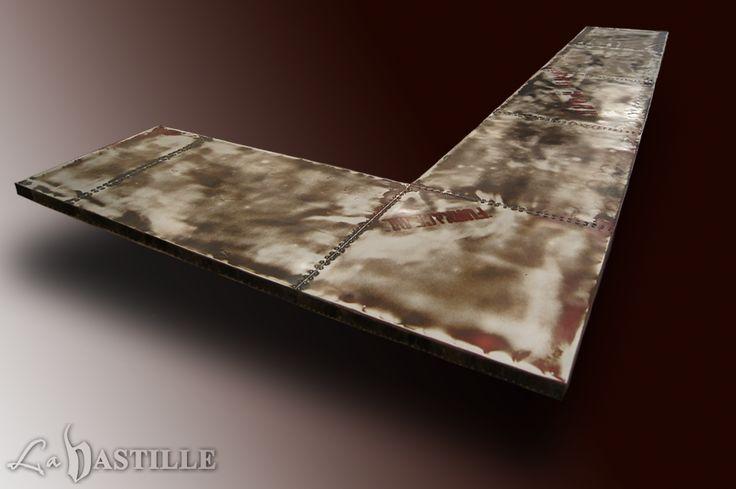 24 best images about zinc countertops la bastille on for Zinc countertop cost