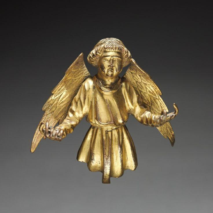 Ange provenant d'un reliquaire.  Environ 1400. France ou Pays-Bas.  The Cleveland Museum of Art.
