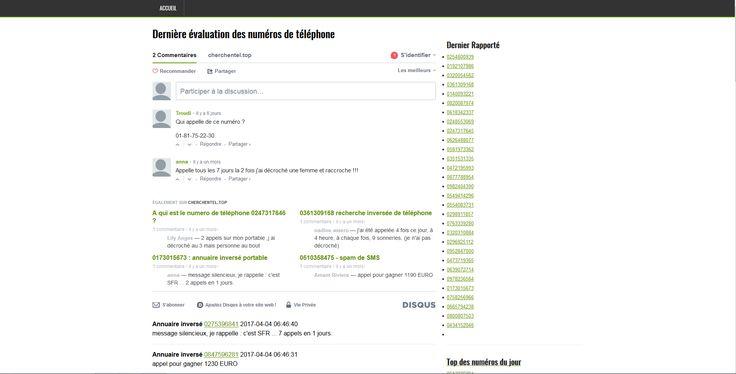 Consultez l'annuaire de cherchentel.top pour trouver le nom et l'adresse de votre correspondant en effectuant une recherche inversée sur un numéro fixe ou mobile