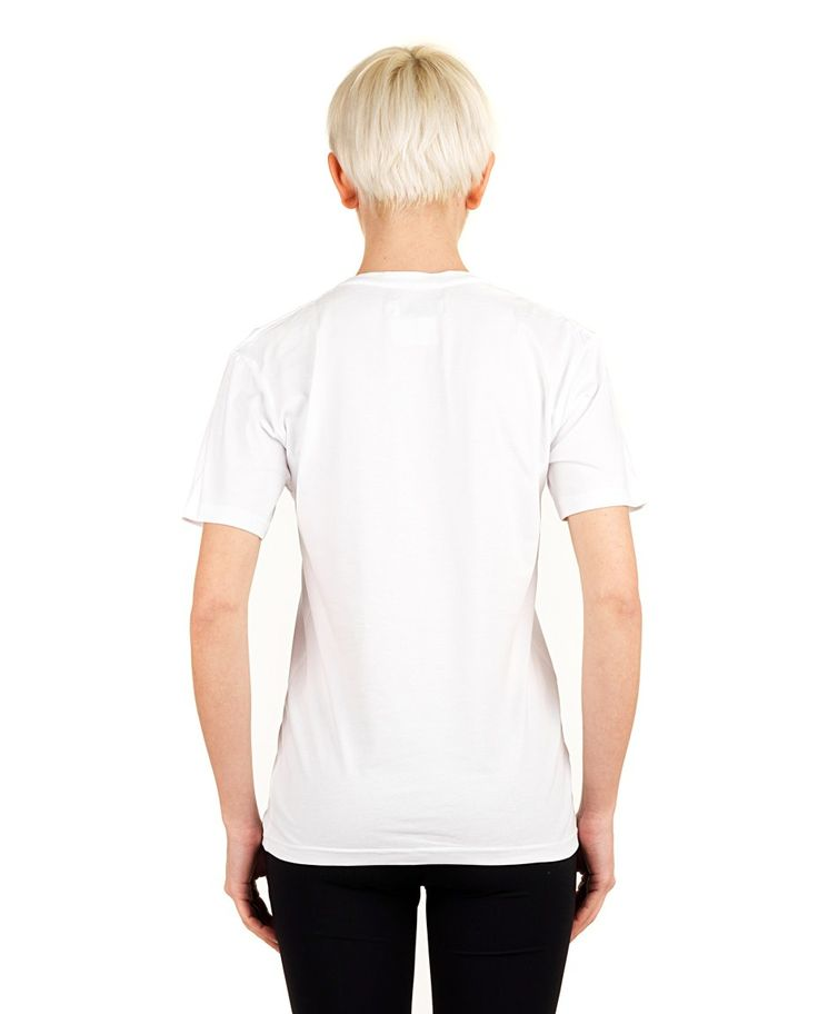 "ANNA K T-SHIRT ""MUST HAVE"" White cotton T-shirt crew-neck short sleeves front print 80% CO 20% EA"