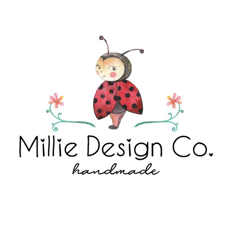 Premade Logo & Blog Header Design - Lovely Ladybug Premade Logo Design - Customized with Your Business Name!
