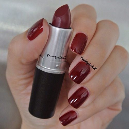 "•essie ""Bordeaux"" •MAC ""Diva"""