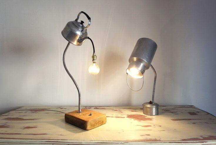 Lámparas con utensilios de cocina