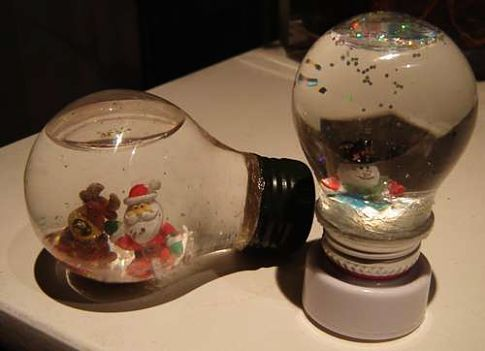Pictures of strange and funny snow globes.