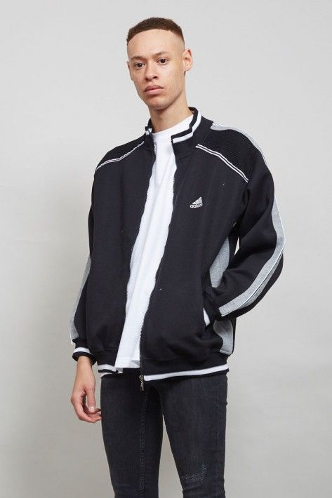 Vintage 90's grey and black Adidas bomber jacket