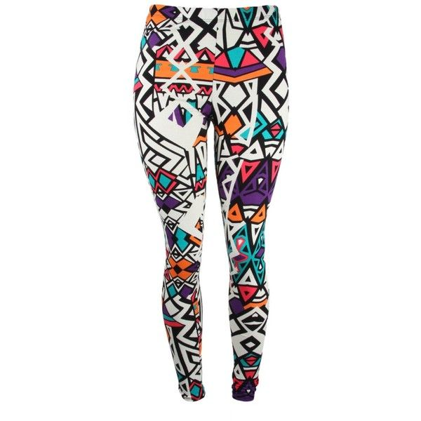 18 Liked On Polyvore Featuring Pants Leggings Bottoms Tights Patterned Print Multi Coloured