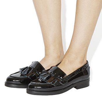 Office Extravaganza Loafers Black Patent Leather - Flats