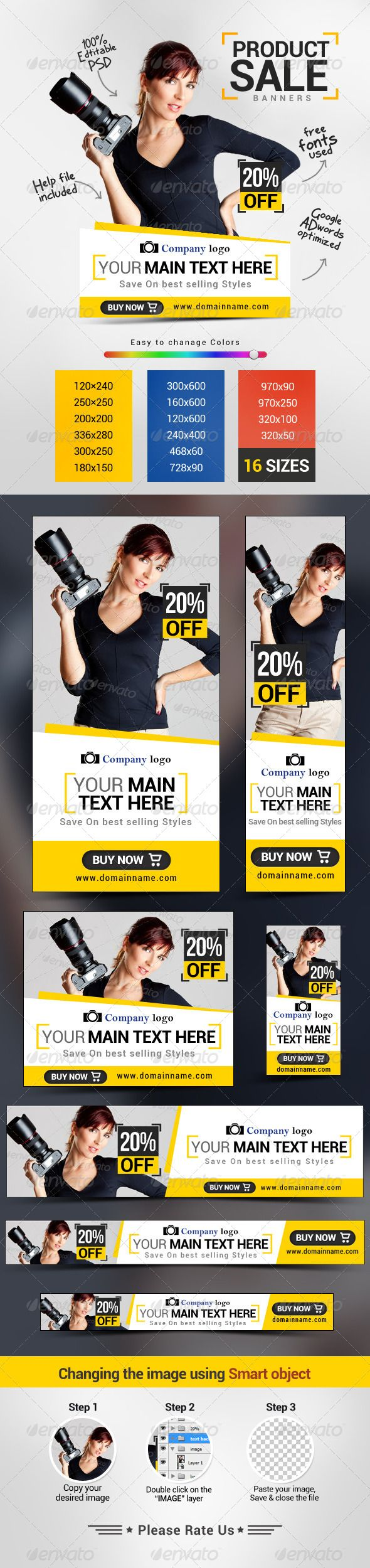 Product Sale Web Banners Template PSD | Buy and Download: http://graphicriver.net/item/product-sale-banners/7800954?WT.ac=category_thumb&WT.z_author=doto&ref=ksioks