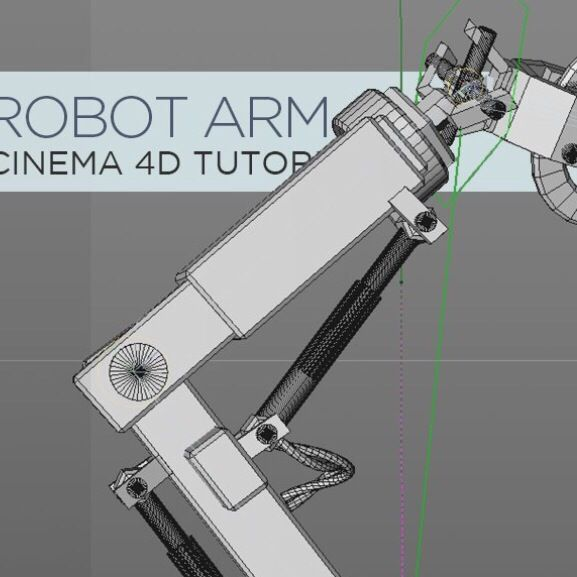 Model And Animate A Robotic Arm In Cinema 4D - Motion And Design #C4D