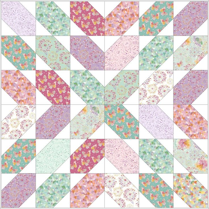 I know you have been searching for a fast and fun quilt pattern to use up your fat quarter stash... here it is! Sew up this beautiful throw quilt using 9 fat quarters plus a little more than a yard of background fabric.