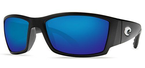 Costa Del Mar Corbina Sunglasses, Black, Blue Mirror 580Plastic Lens