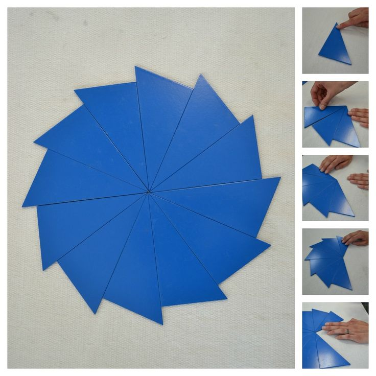 A great post about the blue Montessori triangles.  Link to DIY triangles. I would use craft foam though. Need 3 sheets.