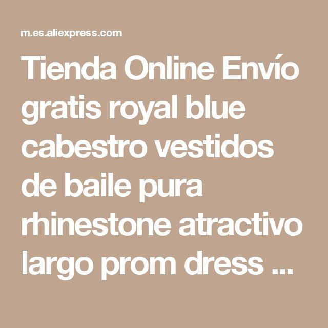 Tienda Online Envío gratis royal blue cabestro vestidos de baile pura rhinestone atractivo largo prom dress con crystal a-line prom vestidos de partido de tarde | Aliexpress móvil