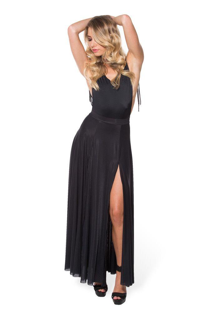 *SAMPLE* Sheer Split Skirt – Black Milk Clothing - M. Purchased at BMLA sample sale on 5/7/16
