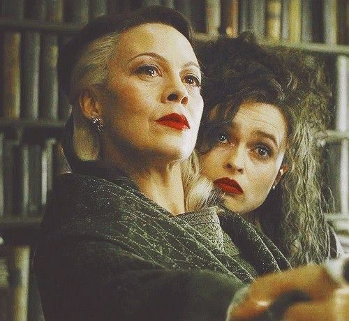 Helen McCrory & Helena Bonham Carter in Harry Potter - fabulous!