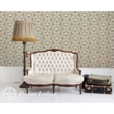 our stencils, vintage paint roller pattern - Baroness