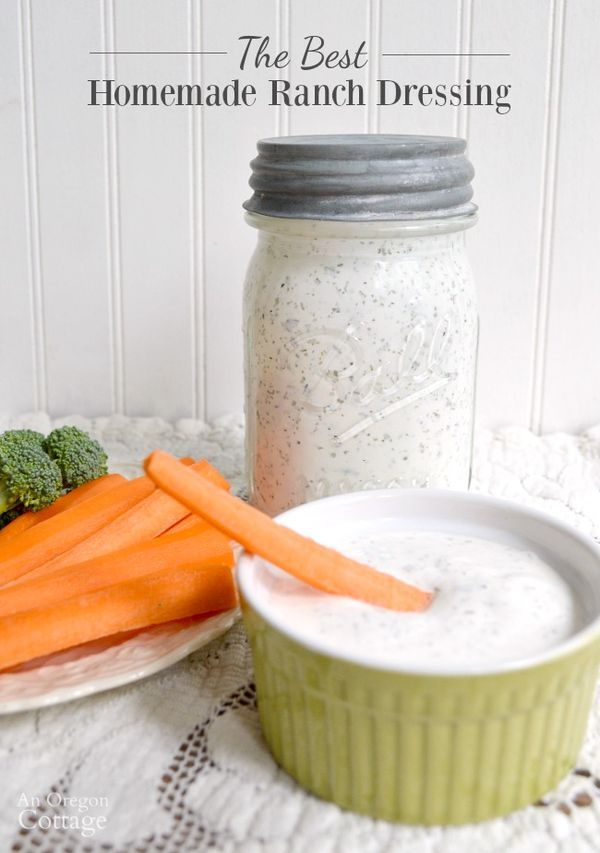 The Best Homemade Ranch Dressing-A healthy family tested, kid-approved homemade ranch dressing recipe made with real food ingredients that you mix up in a jar in just minutes! Use for topping a salad, as a dipping sauce or any way you like to use ranch.
