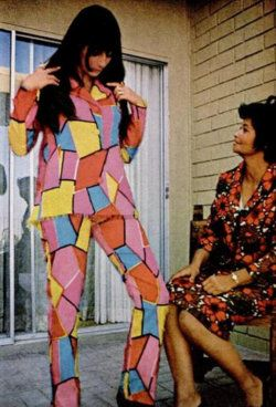 Cher with designer Sadie Hayes in the September 1966 issue of Ebony. According to the article, Cher lured Ms. Hayes away from a job with an exclusive clothing store to design all of the costumes for she and Sonny Bono