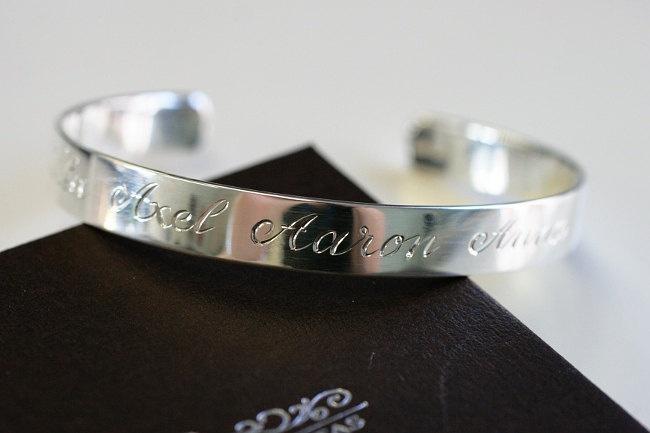Silver Bracelet. Hand Engraved Silver Cuff Bracelet. €210,00, via Etsy.