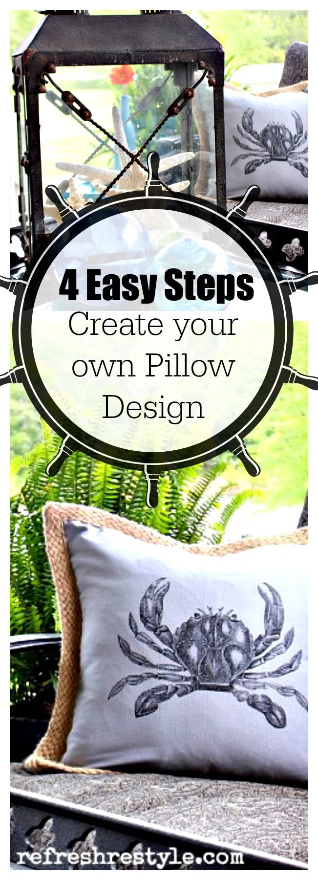 Easy DIY to create your own Pillow Graphics #diyproject #pillowcover #nosew
