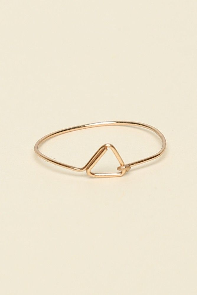 Brandy ♥ Melville | Gold Open Triangle Wire Ring - Accessories