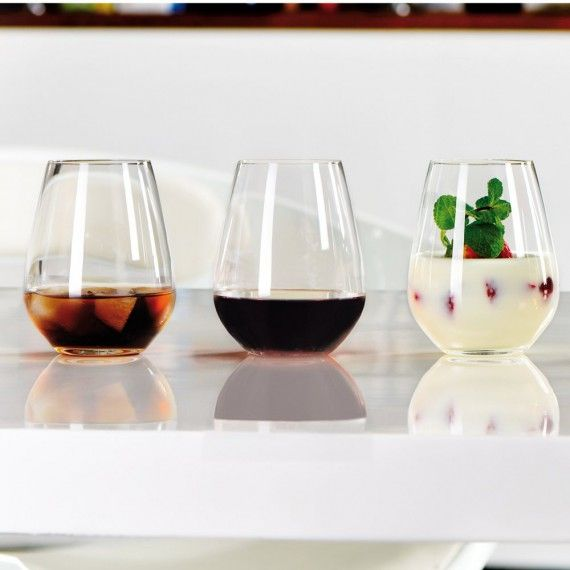 Spiegelau Authentis Casual Stemless Wine Glasses - 16.22 oz - Set of 6