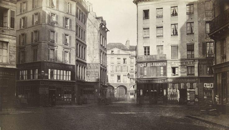 Place Sainte Opportune, de la rue des Halles. Paris Ier. 1865