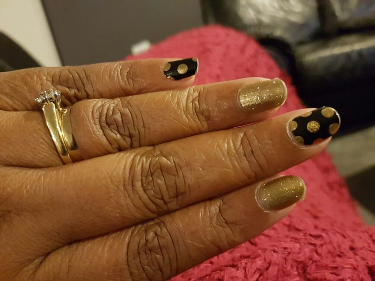 Opulence with gold sparkle jamberry