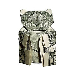 For the children. Not for the strippers. The Art of Moneygami (#Origami)
