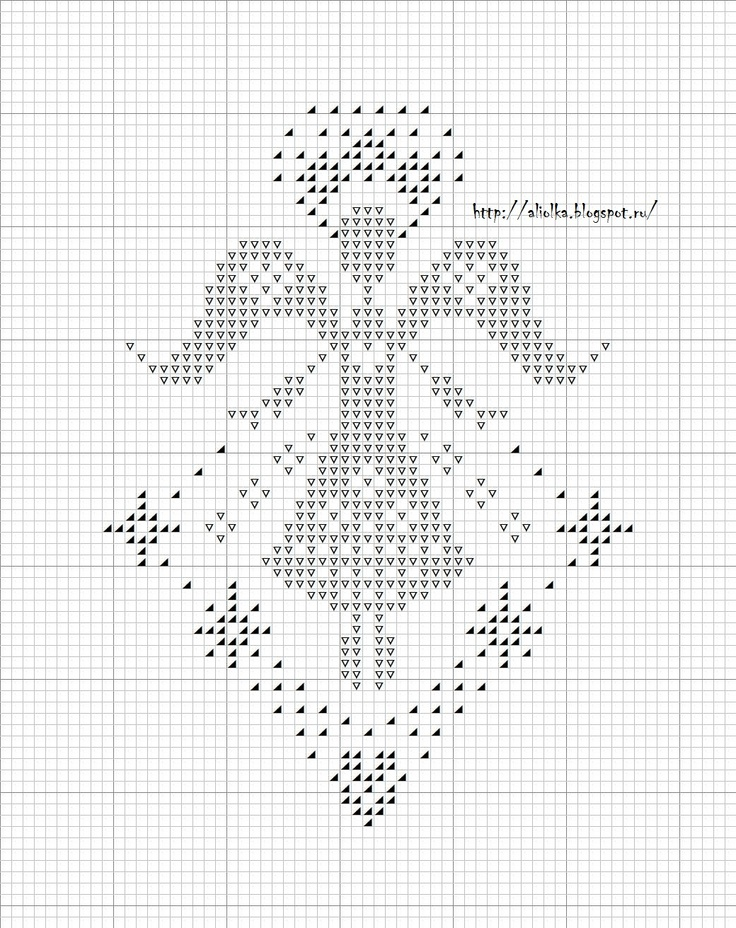 cross stitch angel - possible to use it for filet crochet??
