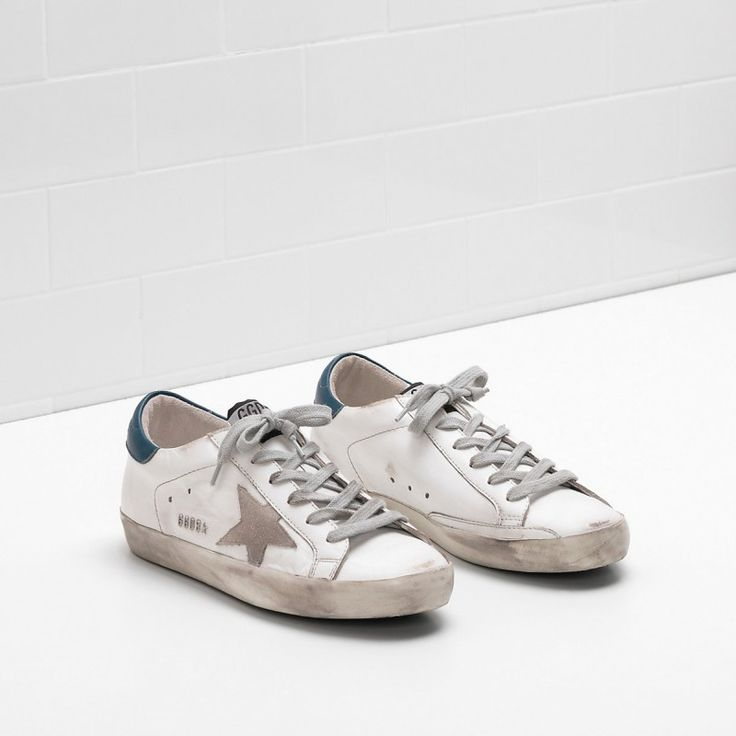 Golden Goose Super Star Grey star in leather White Men - Golden Goose / GGDB #sneakers #women #fashion #shoes #goldengoose #lifestyle #gifts