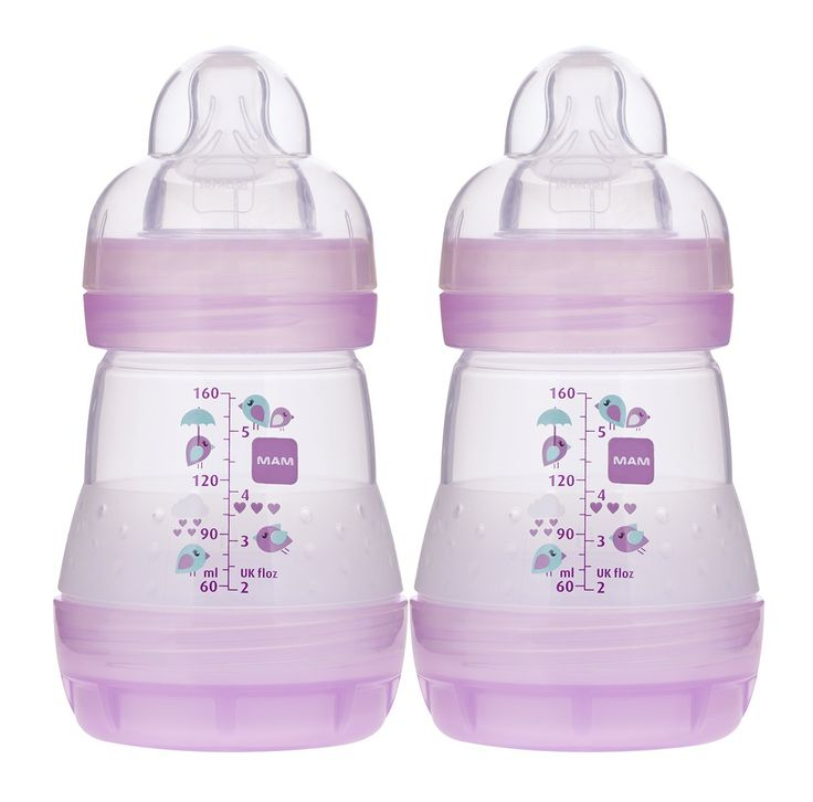 Mam anticolic bottle pink 5 ounce 2count anti colic