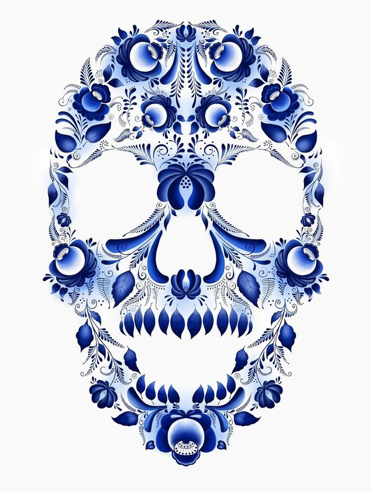 ☆ The Traditional Pattern. Skull 2 :¦: By Max-13-Tulmes ☆