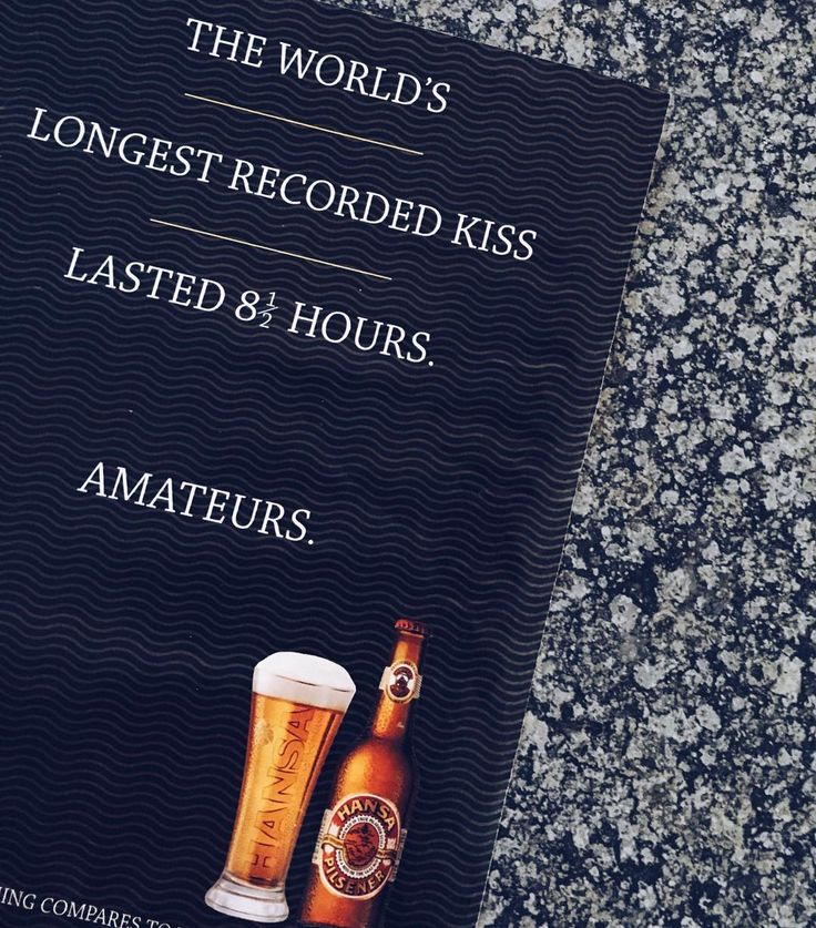 The world's longest recorded kiss was 8.5 hrs - that's nothing compared to the @capitalcraftpta party that tomorrow will be! Get ready for good beer get ready for amazing vibes get ready to set records. Bring it on! #Friday #tgif #beer #party #record #guiness #worldrecord #kiss #love #heart #hapy #weekend #capitalcraft #beerfest #pretoria #beergeek #craftbeer #drinkcraft #party #adventure #friends #goodtimes #city #hansa #advert #design #contrast