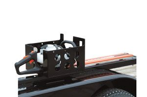 LANDSCAPE TRAILER MULTI-RACK  LT15 Protects hedge trimmers, chainsaws or handheld blowers. Includes rubber straps to secure equipment. Mounting hardware included. Black powder coat finish.