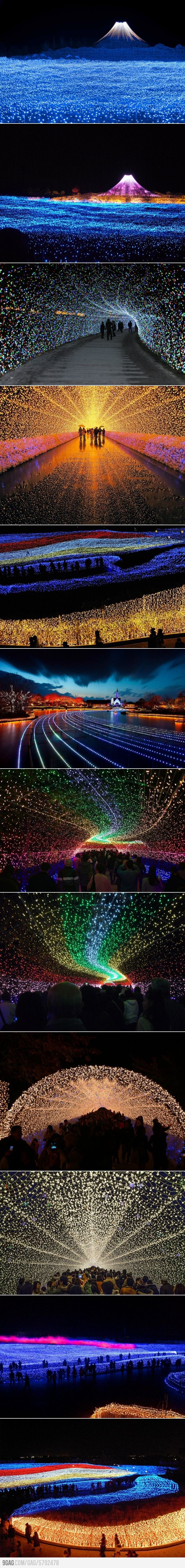 Japan's Winter Lights Festival..I so wanna be here in person!!! AWESOME~NESS~