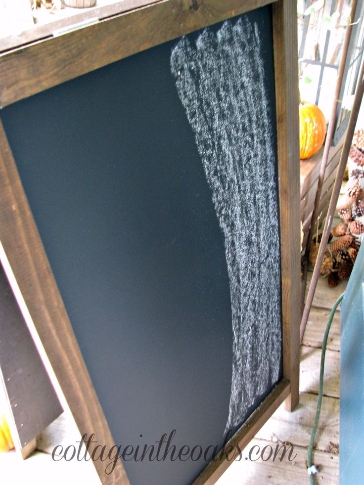 """Did you know you need to season chalkboards?? This way the first thing you ever write/draw on them doesn't stay """"burned"""" in it forever. Tutorial!!!"""