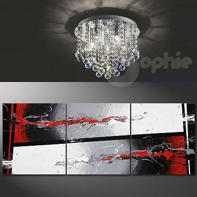 Plafoniera lampada soffitto Ø26 acciaio cromo design moderno cristalli pendenti