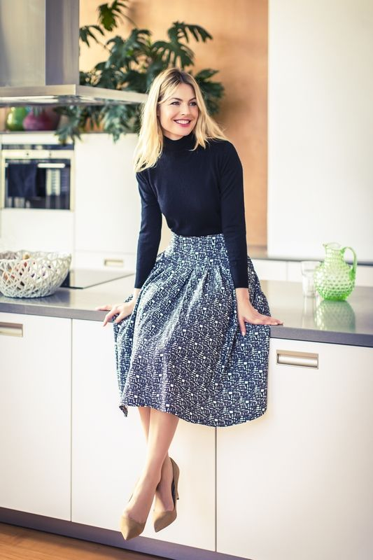 Drop-waist skirt pattern