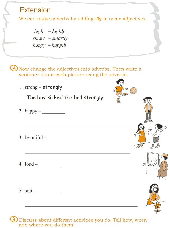 grade 3 grammar lesson 6 verbs and adverbs lang arts. Black Bedroom Furniture Sets. Home Design Ideas