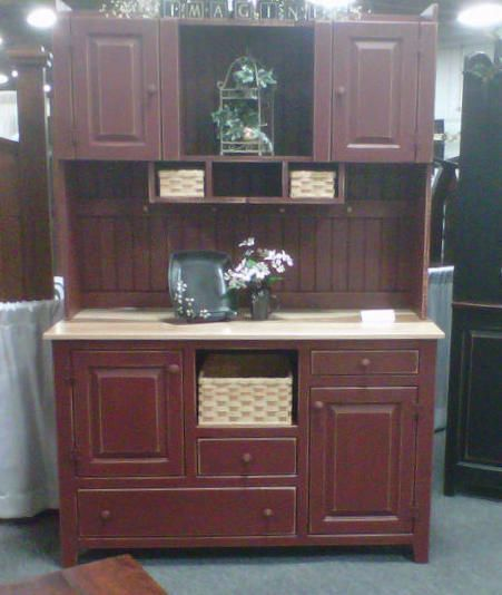 Amish Style Kitchen Cabinets: Details About Amish Kitchen Hutch Pantry Cabinet Primitive
