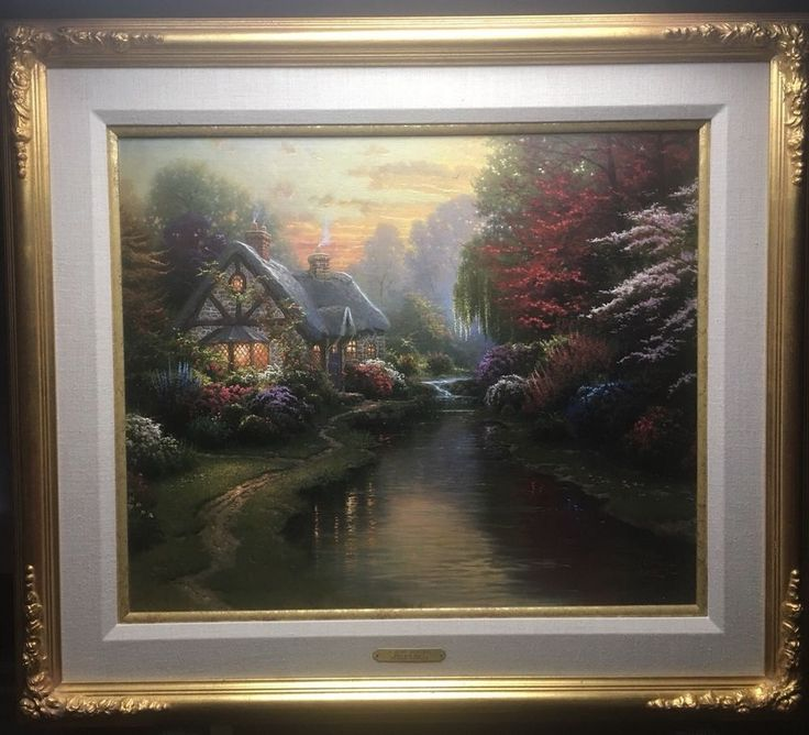Thomas Kinkade 20x24 A Quiet Evening 25/160 Studio Proof With Origin Sketch    eBay